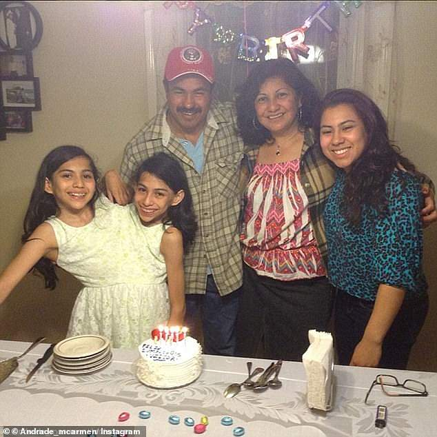 The twins and their family (pictured) moved to the US on a medical visa when the girls were two years old in hopes that doctors could separate them, but they were told the same news they'd heard in Mexico