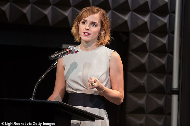 Influential voice: In addition to her role as an actress in Hollywood, Emma was the spearhead of activism and her charity work (photographed during the launch of HeForShe by UN Women in 2016)