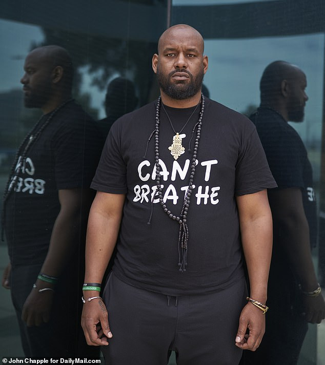 Hawk Newsome, Chairman of BLM's Greater New York chapter, told DailyMail.com the Black rights group is 'mobilizing' its base and aims to develop a highly-trained 'military' arm to challenge police brutality head on