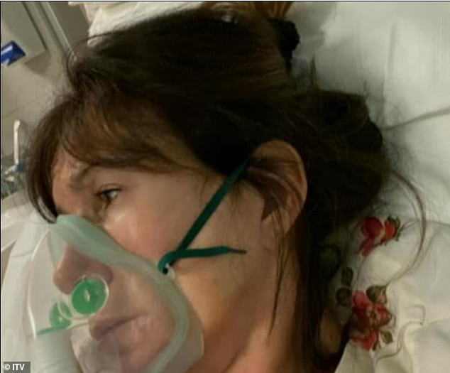 Test: The former page 3 girl, 61, battled the virus for weeks, admitting she felt her 'organs were failing' as the disease was at its worst