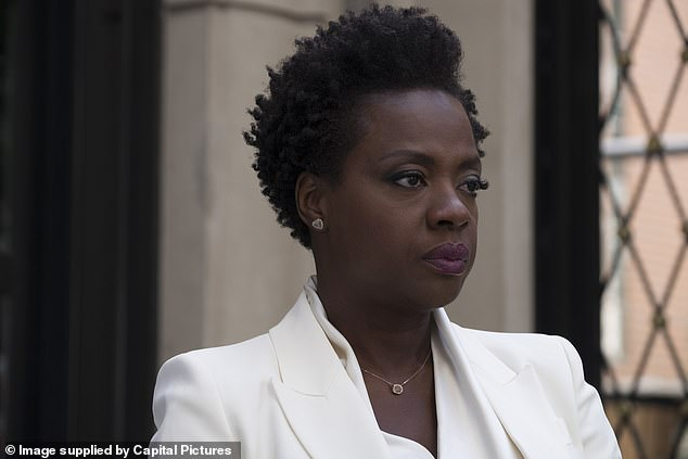 Iconic: Rome also added that Davis - who played lead role Annalise Keating in the hit series for six seasons - 'could be acting opposite a wall' and leave you exclaiming, 'Damn that wall really killed that scene!' [she is pictured in 2018's Widows]