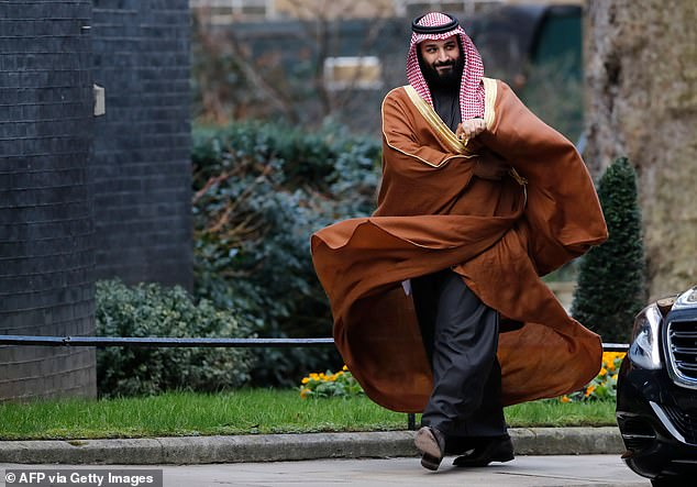 Mohammed bin Salman (pictured) was implicated by the United Nations and CIA in the killing of Jamal Khashoggi, a dissident journalist for the Washington Post