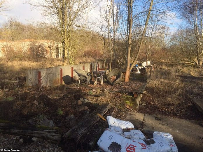 Police are about to return to this abandoned box factory in Neuwegersleben, Germany, where Christian Brueckner lived in a caravan and hid child pornography among the bones of animals. Police raided 2016 for missing Inga Gehricke