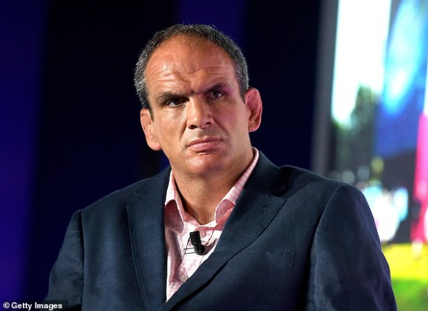 Deformed ears are the hallmark of the many sports of contact, which affects many ex-boxers, rugby players and wrestlers, owing to the repetition of certain bunt force trauma. Ex-captain of England Rugby and the coach Martin Johnson (pictured) was a forward and suffers from the so-called cauliflower ears