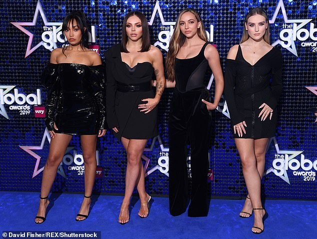 Upsetting: Leigh-Anne, pictured on the far left with Little Mix in 2019, said during the five-minute video: `` My reality is distressed before fan events and signatures because I still feel like least favored. ''