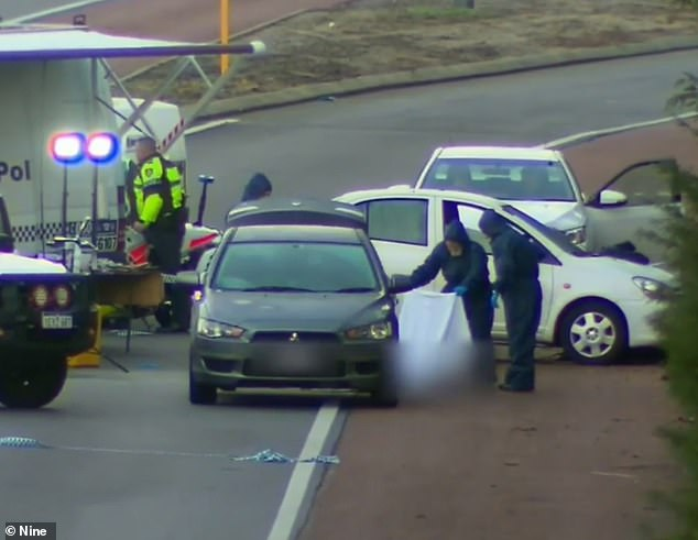 Ms Gascoigne's bound and gagged body was found in the boot of a car on a Perth highway in 2017 (pictured)