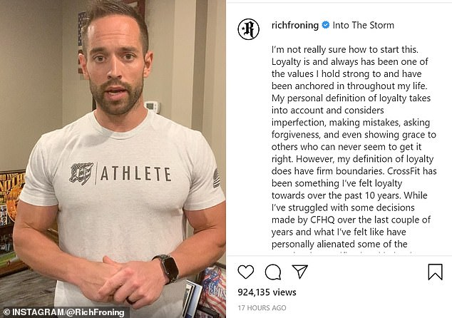 Rich Froning said events of the past few days have