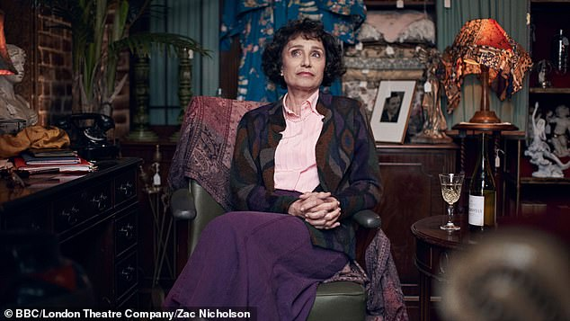 Amazing: Another show still sees Kristin Scott Thomas, who will play in The Hand Of God, originally performed by Eileen Atkins in 1998, pretends to be her character Celia
