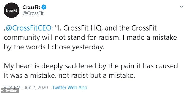 Via CrossFit, Glassman said it was not