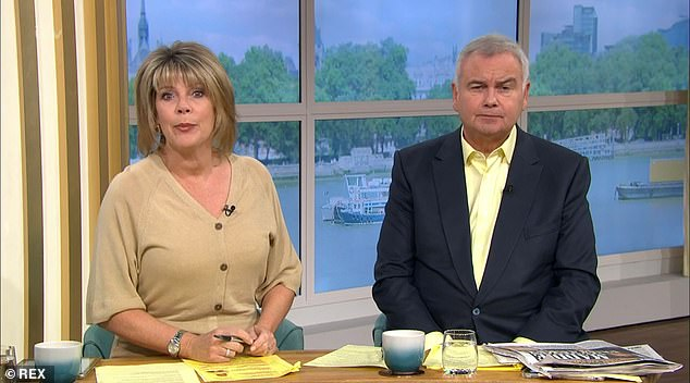Love:It was Ruth's husband Eamonn Holmes who encouraged her to go back to work in memory of Julia, after she admitted she had 'no motivation or desire' to be in the public eye