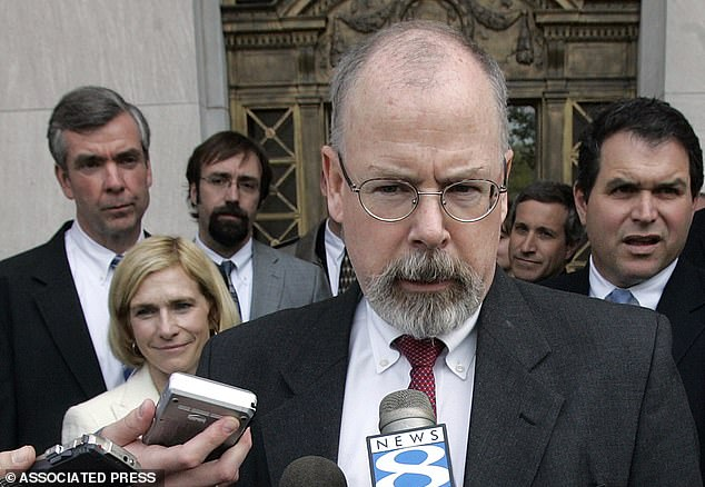 Barr appointedU.S. Attorney John Durham (above) to investigate the origins of the FBI's Trump-Russia probe, and see whether it was executed on solid legal footing