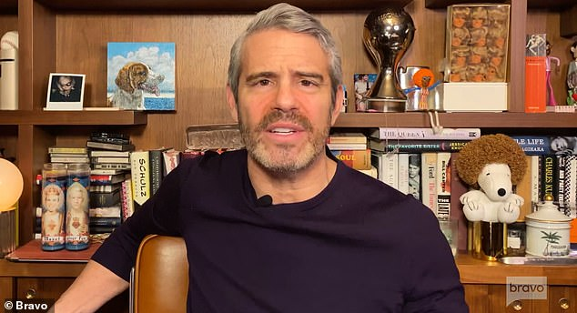 Host: Andy Cohen hosted remote meeting from his home in New York City due to the coronavirus pandemic