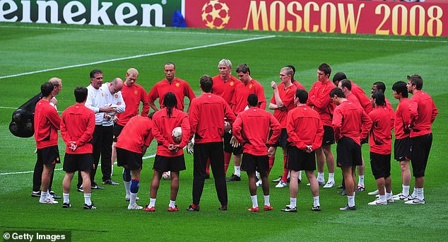 But the atmosphere in training on the eve of the match was rather less friendly