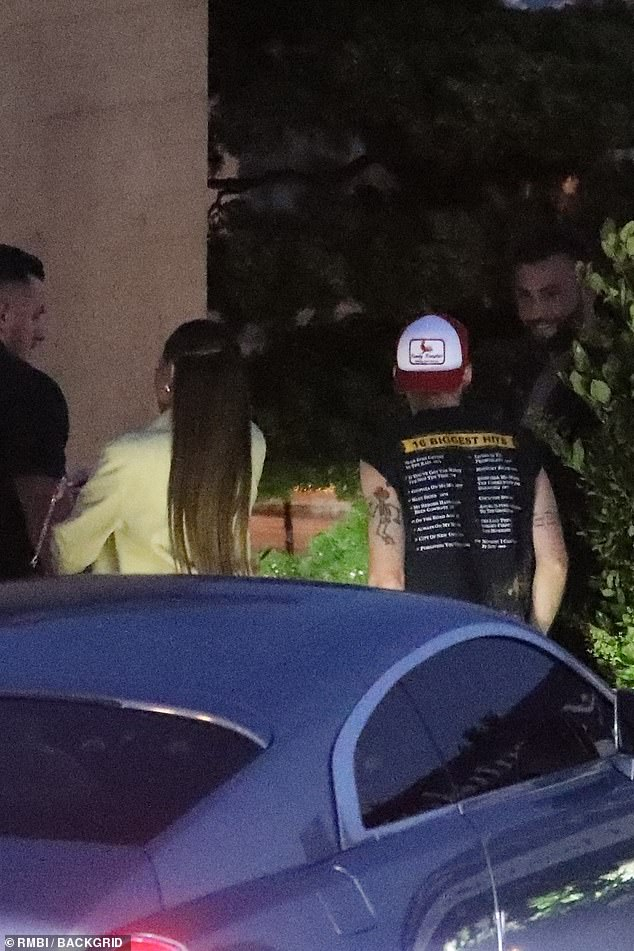 On the go: Kylie and Harry were seen arriving earlier that night