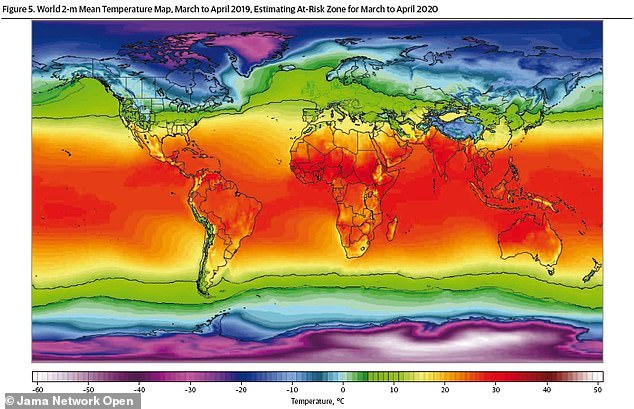This combination of low temperatures exposes Central Asia, caucuses, Central and Eastern Europe, the United Kingdom, the northeast and west-central United States, and British Columbia (all in the green band ) at greatest risk of spread during fall and winter
