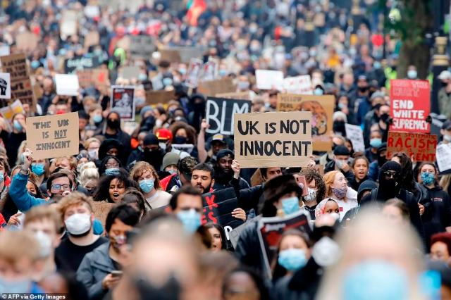 Thousands of Black Lives Matter protesters turned out in London today despite Boris Johnson's calls to abandon demonstrations