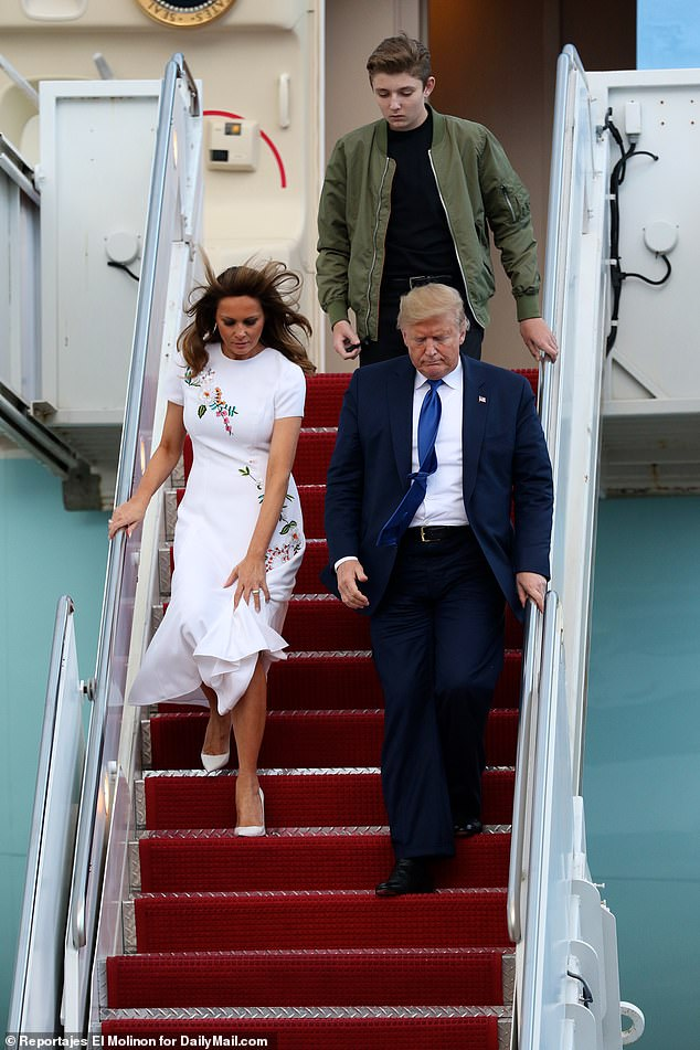 All in all, it cost taxpayers more than $20 million to protect Melania and Barron while they lived in New York; above the Trump family arrives in West Palm Beach
