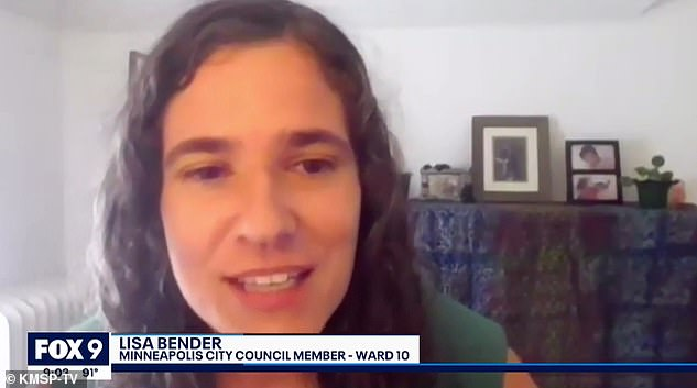 City Council President Lisa Bender, pictured, said Friday that the resolution 'advances our shared commitment to transformative change in how Minneapolis approaches public safety'