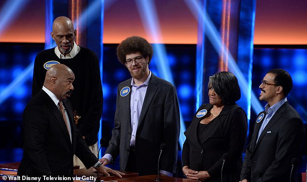 Basketball Hall of Famer son Kareem Abdul-Jabbar was arrested in Orange County, California earlier this week after allegedly stabbing a neighbor several times, it was revealed. Kareem and Adam Abdul-Jabbar are seen here on a Family Feud 2017 show