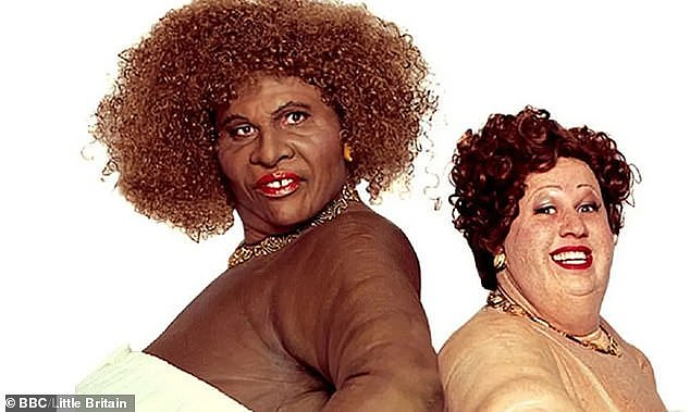 Gone: Little Britain was removed from streaming services including Netflix and Britbox following concerns its use of blackface was no longer acceptable