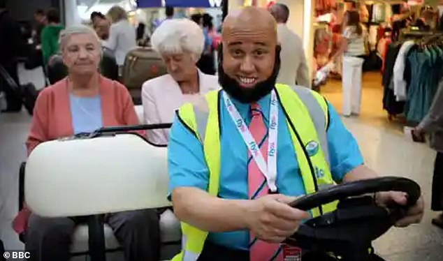 Debate: He also played airport worker Taaj in Come Fly With Me. Fans have since expressed unease about sketches which feature comedians wearing make up to portray different races