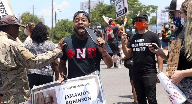 Rayshard Brooks' killing sparked renewed anger as demonstrators gathered near the Wendy's fast food restaurant on University Avenue in Atlanta on Saturday