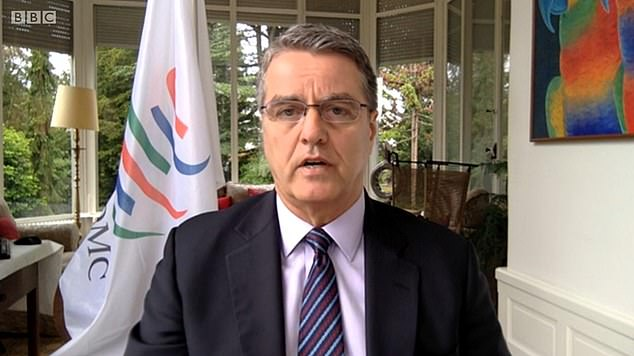World Trade Organization director general Roberto Azevedo today said he believes there 'is a pretty good chance' of the UK and EU striking a deal before the end of the transition period
