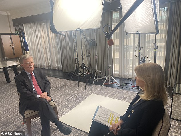 John Bolton (left), President Trump's former national security adviser, sat down for his first interview about his blockbuster book with ABC News' Martha Raddatz (right). The interview will be a primetime Sunday night special