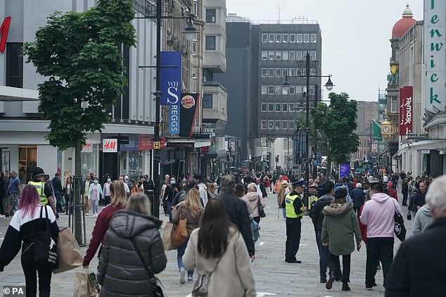 NEWCASTLE: Shoppers on Northumberland Street, Newcastle, as non-essential shops in England open their doors on Monday