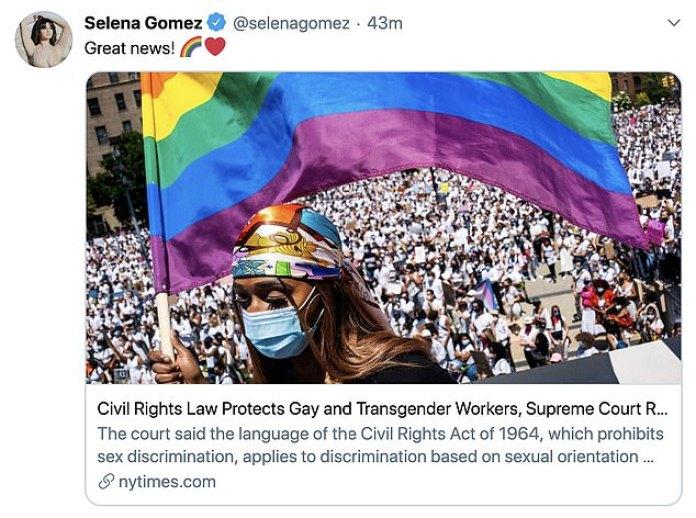 Todo por ello: Selena Gomez compartió, 'Grandes noticias' mientras se vinculaba al New York Times