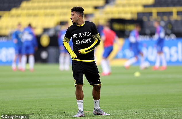 The star of Dortmund, Jadon Sancho, has joined Sterling in support of their calls for changes to be made