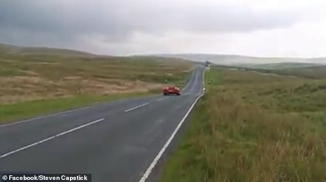En route: Paddy was seen crossing the Yorkshire Dales before the accident