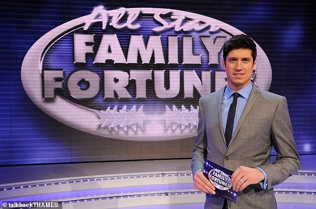 She added: `` He had to apologize on the radio and just continued, with Family Fortunes, ironically. It still makes me physically ill. (Vernon pictured on the show in 2012)