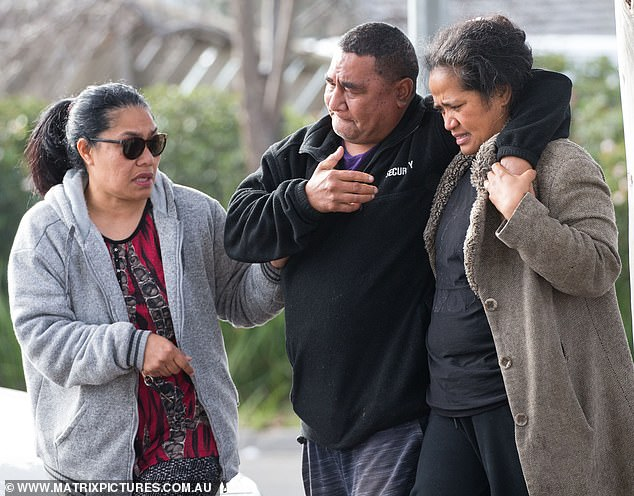 Solomone's devastated parents attended the Brimbank Shopping Centre where their son was killed on Wednesday morning but instead of adding to the rising tensions they called for calm