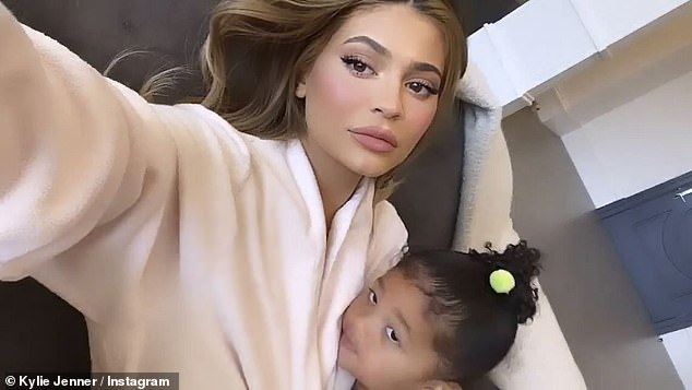 Camera ready: mother and daughter posed for photos while quarantining at home in Holmby Hills in Kylie's new $ 36.5 million mansion