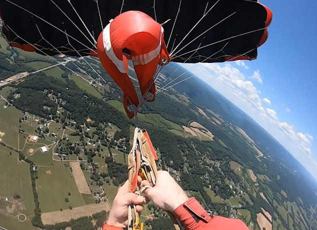 Skydiving coach Joseph's parachute became tangled thousands of feet aboveShelbyville, Tennessee, on June 13 while he was on a routine work jump