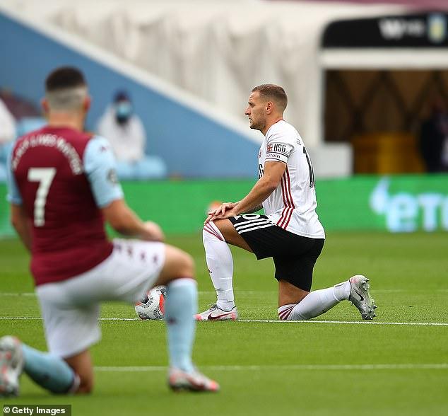 L'attaquant Billy Sharp et le reste des joueurs de Sheffield United ont joué leur rôle dans le geste
