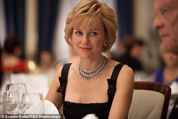 Naomi Watts as Princess Diana in the 2013 film Diana