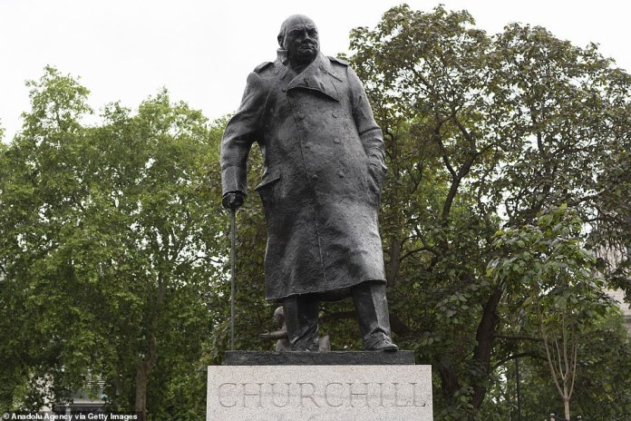 A conservative peer previously said that the statue of Sir Winston Churchill raised the `` banner of anarchy '' in Parliament Square.