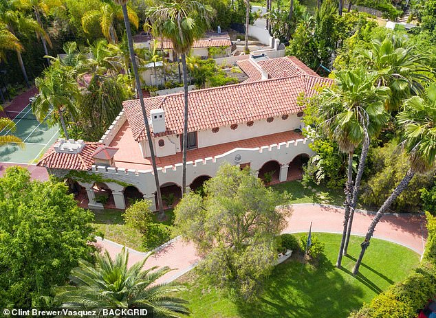 All of the alleged crimes occurred at the accused's home, prosecutors said. The star's current home in the Hollywood hills is pictured
