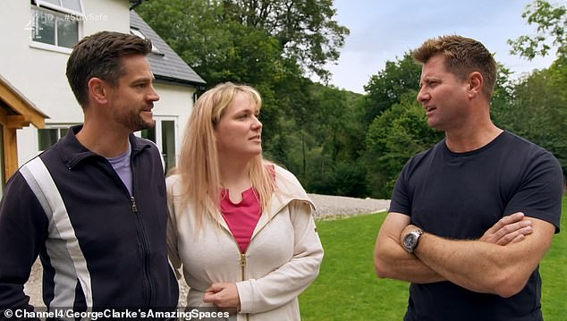 George Clarke told the couple (pictured together) that the transformation of the old bakery was one of the best properties he had ever seen