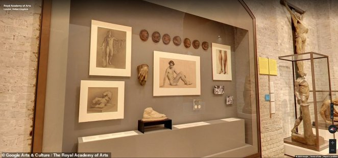Through Google's Street View system, the public will be able to virtually visit 17 different locations within the Royal Academy — including the Collection Gallery, Library and the Lecture Theatre — and enjoy eight different Street View tours
