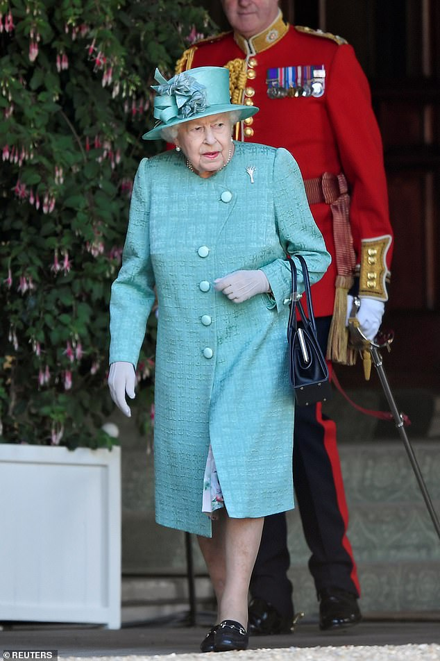 Queen (pictured at Windsor Castle in June) once joked that she was getting more nervous about her horse racing than she did about her own TV coronation, says royal author .