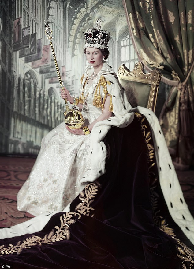 Her Majesty, 94, admitted a few minutes before attending her coronation in 1953 (above), according to writer Karen Dolby, who shared the fun moment in her recent book The Wicked Wit of the Royal family