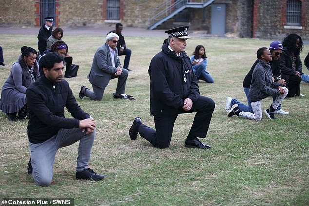Kent Police's chief constable Alan Pughsley took the knee at a BLM event recently