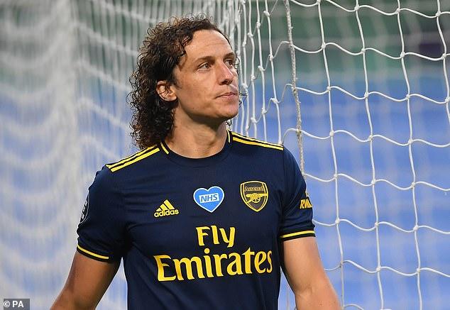 David Luiz endured a nightmare night when Arsenal's restart didn't go as planned