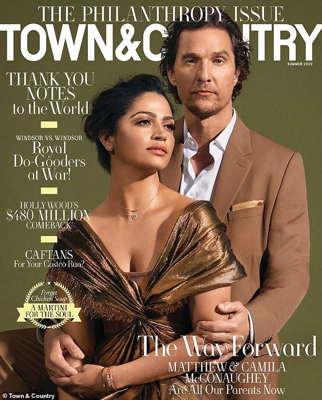 Il en faut deux: McConaughey et Alves ressemblent au couple de puissance ultime tels qu'ils apparaissent sur la couverture du numéro de philanthropie de Town & Country