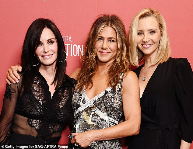 Still close:'We are hoping to be able to shoot in August, if all is well and there is no early second wave and the studio is open,' Kauffman said. Courteney, Jennifer and Lisa seen in November 2019
