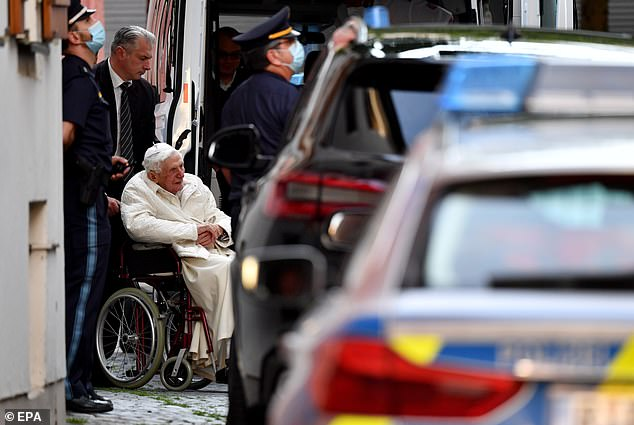 The retirement of the pope, who was accompanied by his secretary, Monsignor Georg Gaenswein, a doctor and a nurse, has been taken to be with her 96-year-old brother