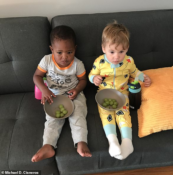 Maxwell, left, and Finnegan, right, became best friends after their parents met in a restaurant